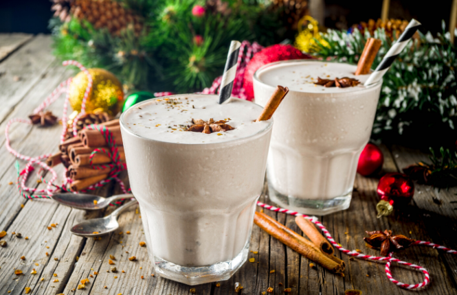 how to make eggnog lattes